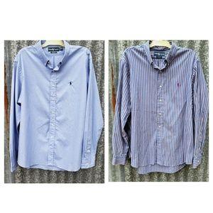 LOT OF 2 Ralph Lauren Custom Button Down Shirts